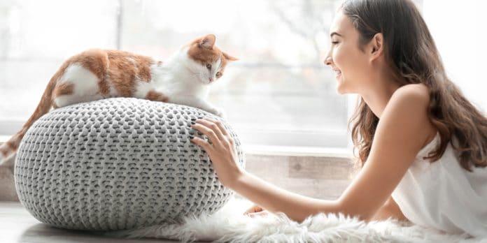 Kedi ve Genç Kız